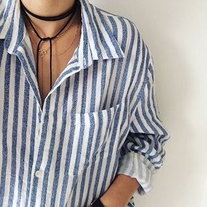 Hollister Striped Button Down Shirt